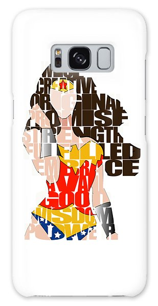 Wonder Woman Inspirational Power And Strength Through Words Galaxy Case by Marvin Blaine