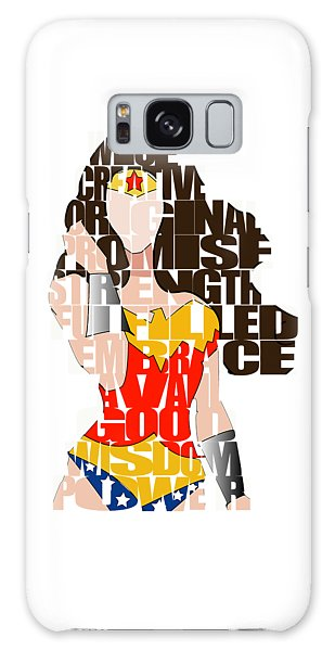 Wonder Woman Inspirational Power And Strength Through Words Galaxy Case
