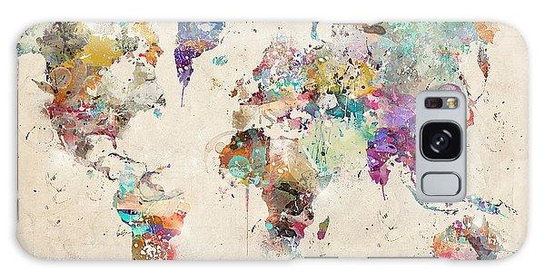 World Map Watercolor Galaxy Case