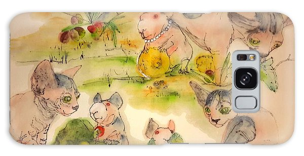 World Of Guinea Pigs And Naked Cats Album Galaxy Case by Debbi Saccomanno Chan