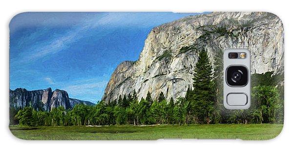 Yosemite Valley Meadow Panorama Galaxy Case
