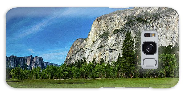Yosemite Valley Meadow Panorama Galaxy Case