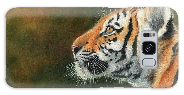 Young Amur Tiger  Galaxy Case by David Stribbling