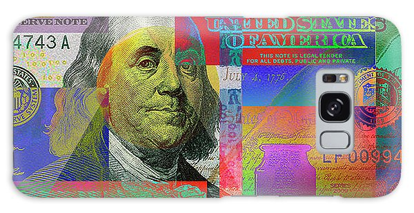 Hundred Galaxy Case -  2009 Series Pop Art Colorized U. S. One Hundred Dollar Bill No. 1 by Serge Averbukh