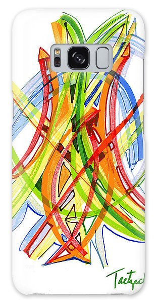 2010 Abstract Drawing Seven Galaxy Case by Lynne Taetzsch