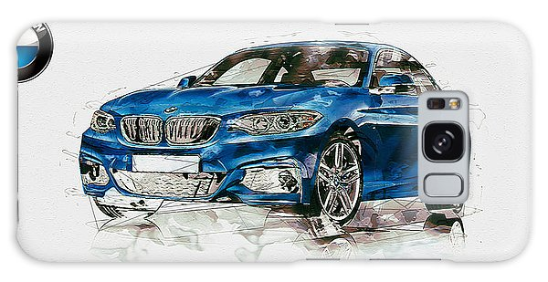 Sports Galaxy Case - 2014 B M W 2 Series Coupe With 3d Badge by Serge Averbukh