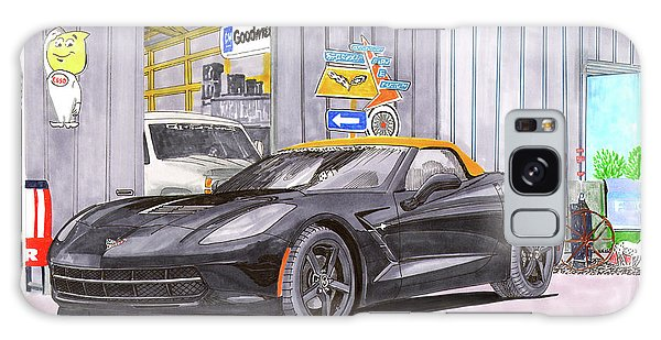 Galaxy Case - 2014 Corvette And Man Cave Garage by Jack Pumphrey