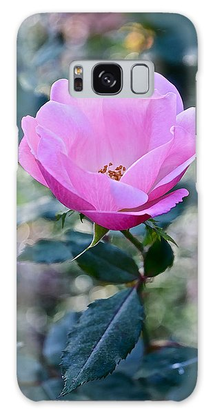 2015 After The Frost At The Garden Pink  Rose Galaxy Case