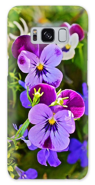2015 Summer's Eve At The Garden Pansy Totem Galaxy Case