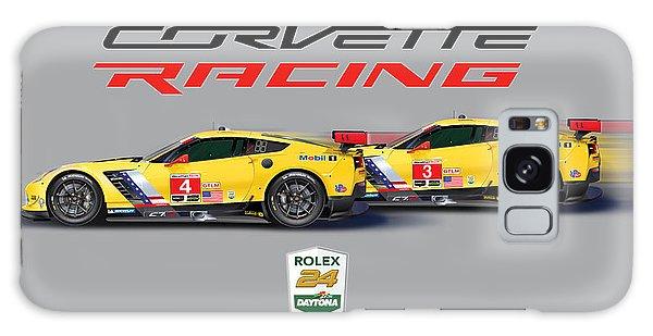 2016 Daytona 24 Hour Corvette Poster Galaxy Case