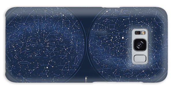 Visualization Galaxy Case - 2017 Pi Day Star Chart Azimuthal Projection by Martin Krzywinski