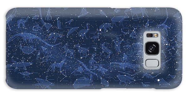 Visualization Galaxy Case - 2017 Pi Day Star Chart Carree Projection by Martin Krzywinski