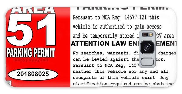 2018 Area 51 Parking Permit Galaxy Case