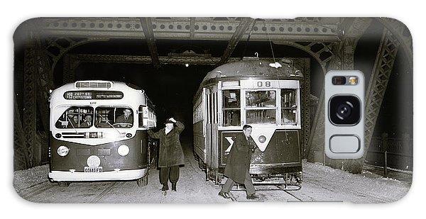 207th Street Crosstown Trolley Galaxy Case by Cole Thompson