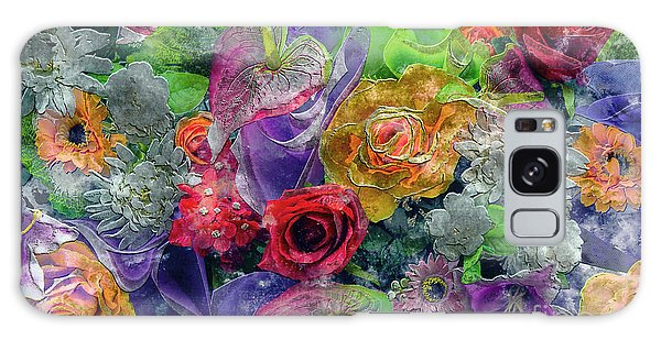 21a Abstract Floral Painting Digital Expressionism Galaxy Case