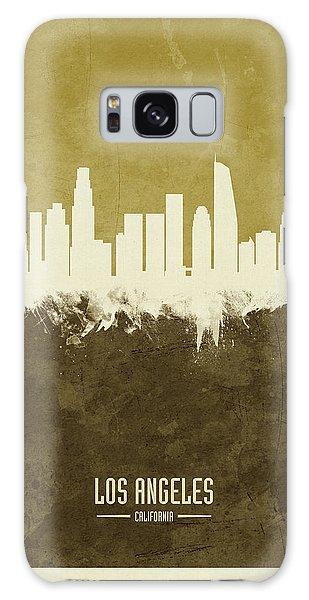 Los Angeles Skyline Galaxy S8 Case - Los Angeles California Skyline by Michael Tompsett