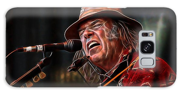 Neil Young Galaxy S8 Case - Neil Young Collection by Marvin Blaine