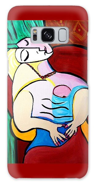 Sleeping In Brown Chair  Picasso Galaxy Case