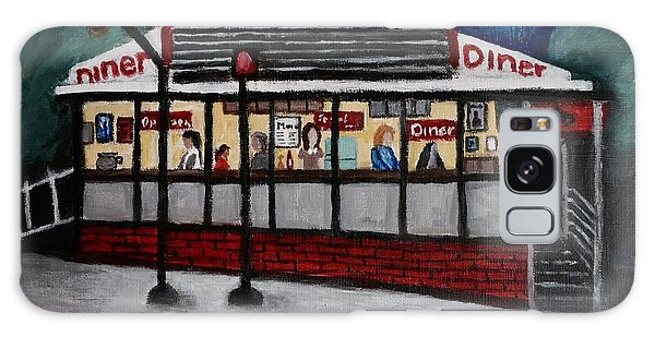 24 Hour Diner Galaxy Case by Victoria Lakes