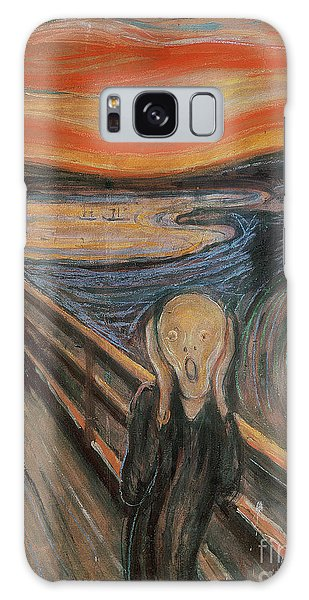 Abstract People Galaxy Case - The Scream by Edvard Munch