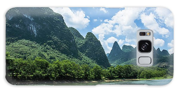 Lijiang River And Karst Mountains Scenery Galaxy Case