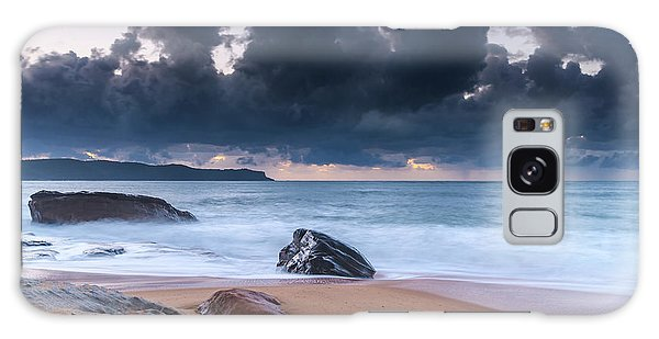 Sunrise Seascape With Clouds Galaxy Case