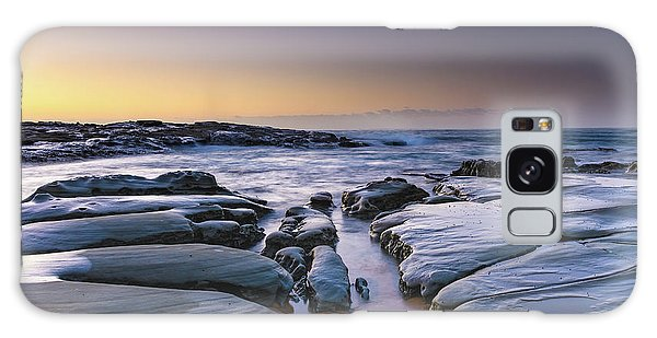 Sunrise Seascape And Rock Platform Galaxy Case