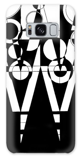2d Black And White Abstract Galaxy Case