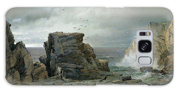 Strange Clouds Galaxy Case - A Rocky Coast by William Trost Richards