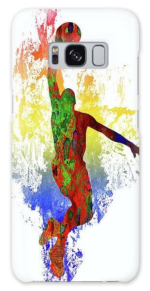 Sportsman Galaxy Case - Basketball Player by Elena Kosvincheva