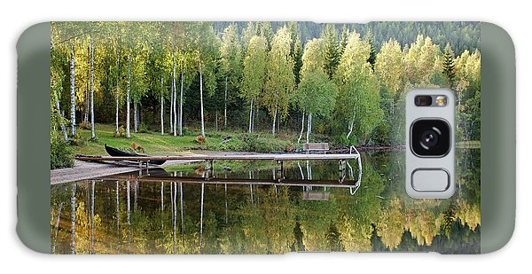 Birches And Reflection Galaxy Case