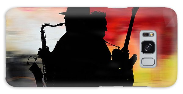 Mixed-media Galaxy Case - Bruce Springsteen Clarence Clemons by Marvin Blaine