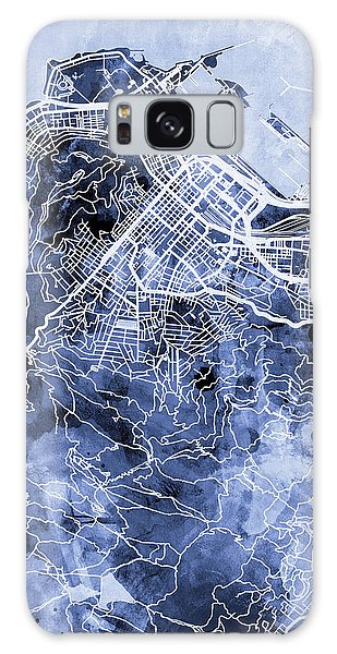 Town Galaxy Case - Cape Town South Africa City Street Map by Michael Tompsett