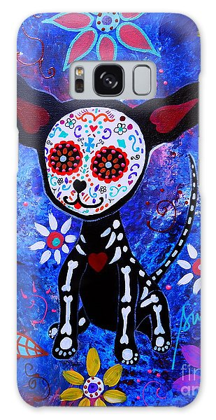 Chihuahua Day Of The Dead Galaxy Case by Pristine Cartera Turkus