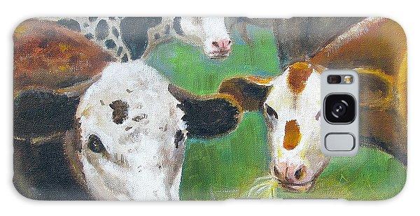 3 Cows Galaxy Case by Oz Freedgood
