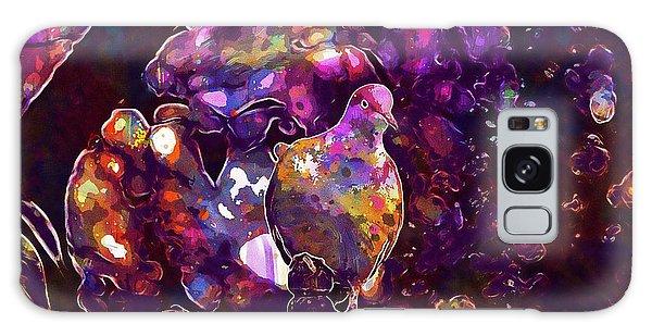 Galaxy Case featuring the digital art Dove Bird Feather Animal Plumage  by PixBreak Art