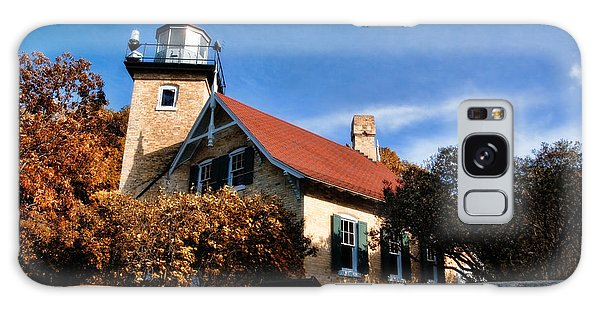 Eagle Bluff Lighthouse Galaxy Case by Joel Witmeyer