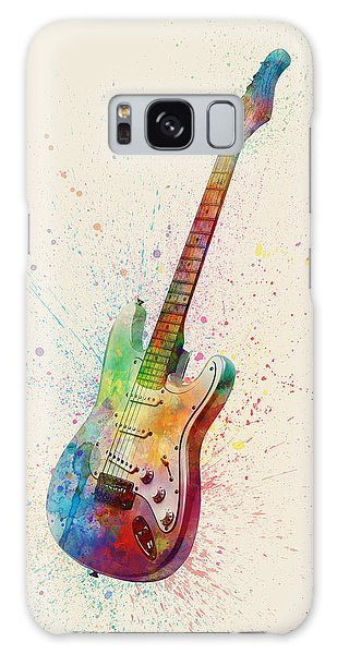 Electric Guitar Abstract Watercolor Galaxy Case by Michael Tompsett