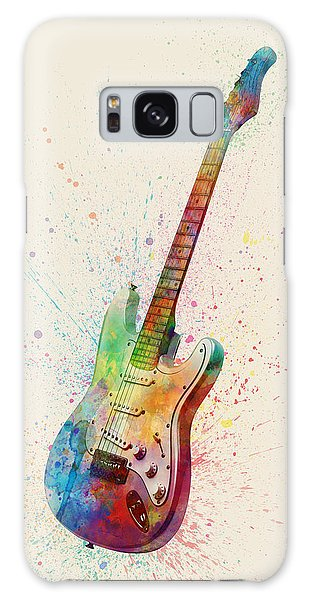 Guitar Galaxy Case - Electric Guitar Abstract Watercolor by Michael Tompsett