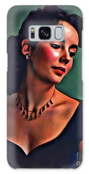 Elizabeth Taylor, Vintage Hollywood Legend By Mary Bassett Galaxy S8 Case