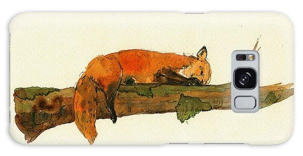 Fox Sleeping Painting Galaxy Case