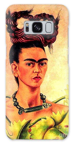 Frida Kahlo Self Portrait Galaxy Case