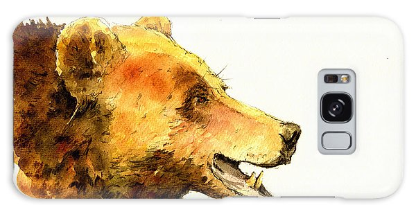 Grizzly Bear Galaxy Case - Grizzly Bear Watercolor Painting by Juan  Bosco