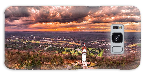 Heublein Tower, Simsbury Connecticut, Cloudy Sunset Galaxy Case by Petr Hejl