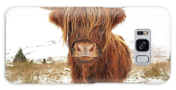 Cow Galaxy Case - Highland Cow by Grant Glendinning