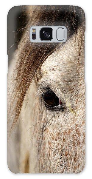 Horse Portrait Galaxy Case by Ian Middleton