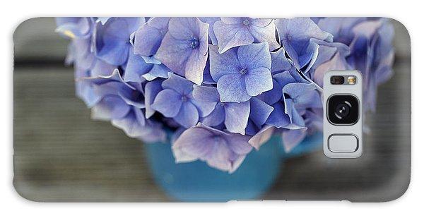 Metal Galaxy Case - Hortensia Flowers by Nailia Schwarz