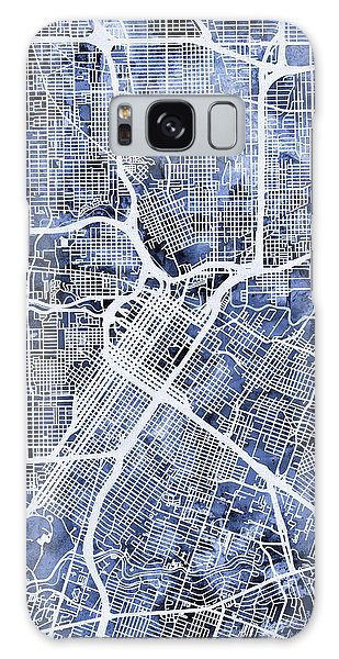 City Map Galaxy Case - Houston Texas City Street Map by Michael Tompsett