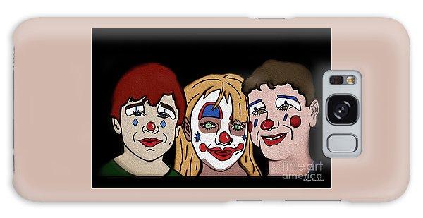 Galaxy Case featuring the digital art 3 Jesters by Megan Dirsa-DuBois