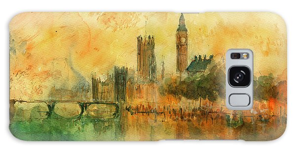 London Watercolor Painting Galaxy Case